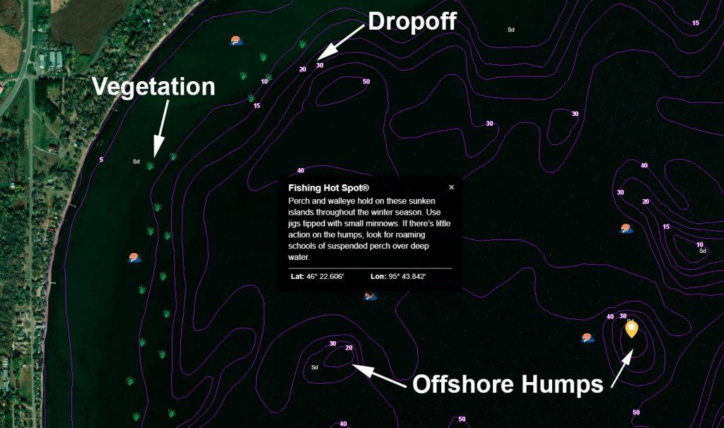 структура на риболовна карта